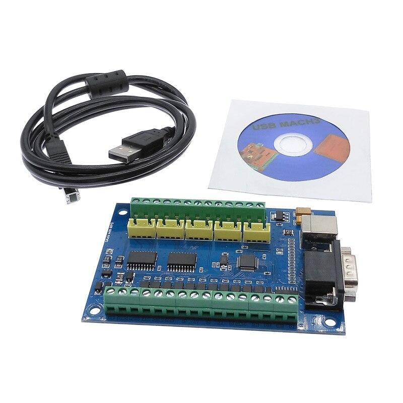 Placa de fuga cnc placa usb mach3 máquina gravura 5 eixos com mpg stepper cartão controlador movimento