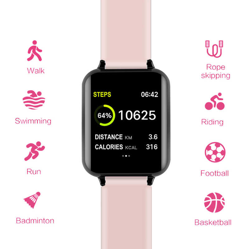B57 Smart Horloges Waterdichte Sport Voor Iphone Telefoon Smartwatch Hartslagmeter Bloeddruk Functies Voor Vrouwen Mannen Kid