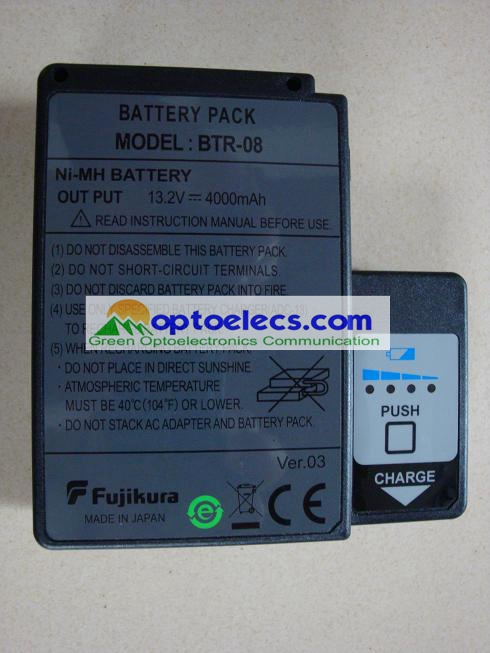 DHL Shipping ORIGINAL Fujikura BTR 08 battery pack for Fujikura FSM 60S 60R fusion splicer
