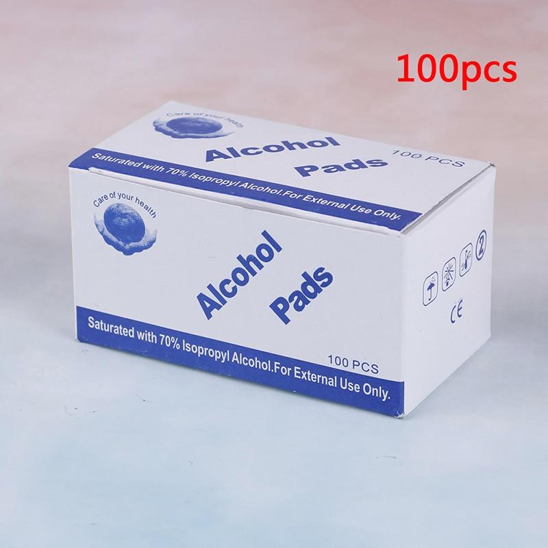 Image 4 - 50/100pcs Alcohol Wipe Pad Nail Art Medical Swab Sachet Antibacterial Tool Cleanser RemoverCotton Swabs