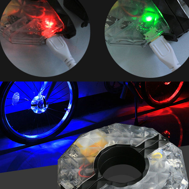 12pcs rechargeable led rgb light strip colorful bike wheel hub 12pcs rechargeable led rgb light strip colorful bike wheel hub light waterproof bicycle spoke aloadofball Image collections