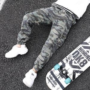 Image 3 - Abesay秋迷彩ズボンカジュアル男の子パンツルース冬十代の少年服 6 8 12 年