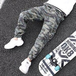 Image 3 - Abesay Herbst Camouflage Hose Für Jungen Casual Jungen Hosen Lose Kinder Hosen Winter Teenager Jungen Kleidung 6 8 12 Jahre