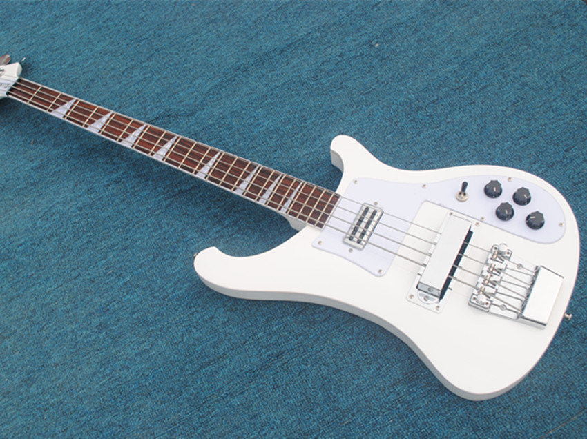top quality rickenback white bass guitar 4 strings electric guitar real photos showing. Black Bedroom Furniture Sets. Home Design Ideas