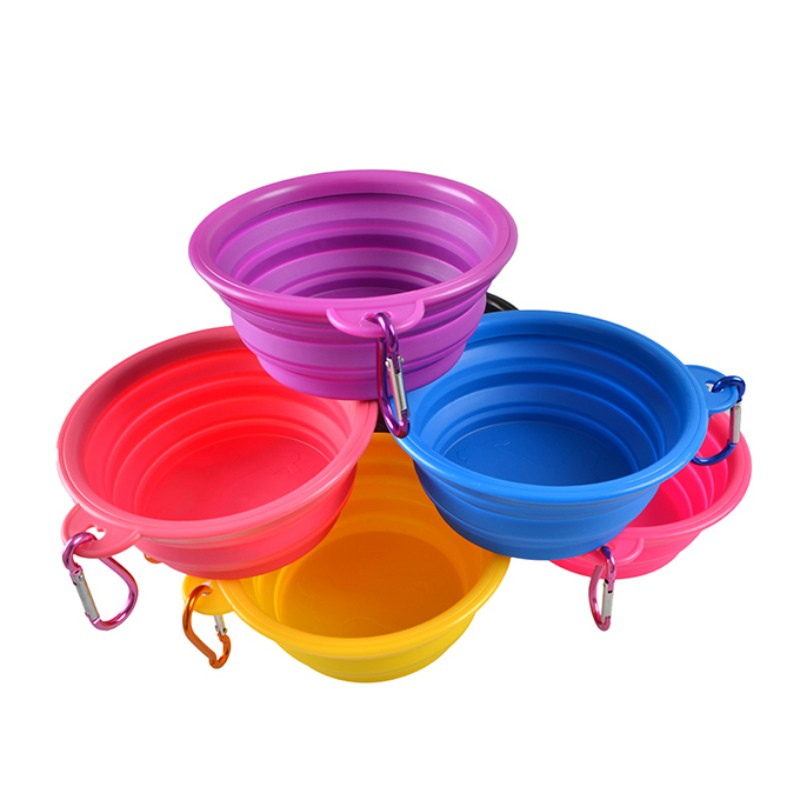 Dog Bowl,dog Cat Pet Travel Bowl Silicone Collapsible Feeding Water Dish Feeder Portable Water Bowl For Pet #3