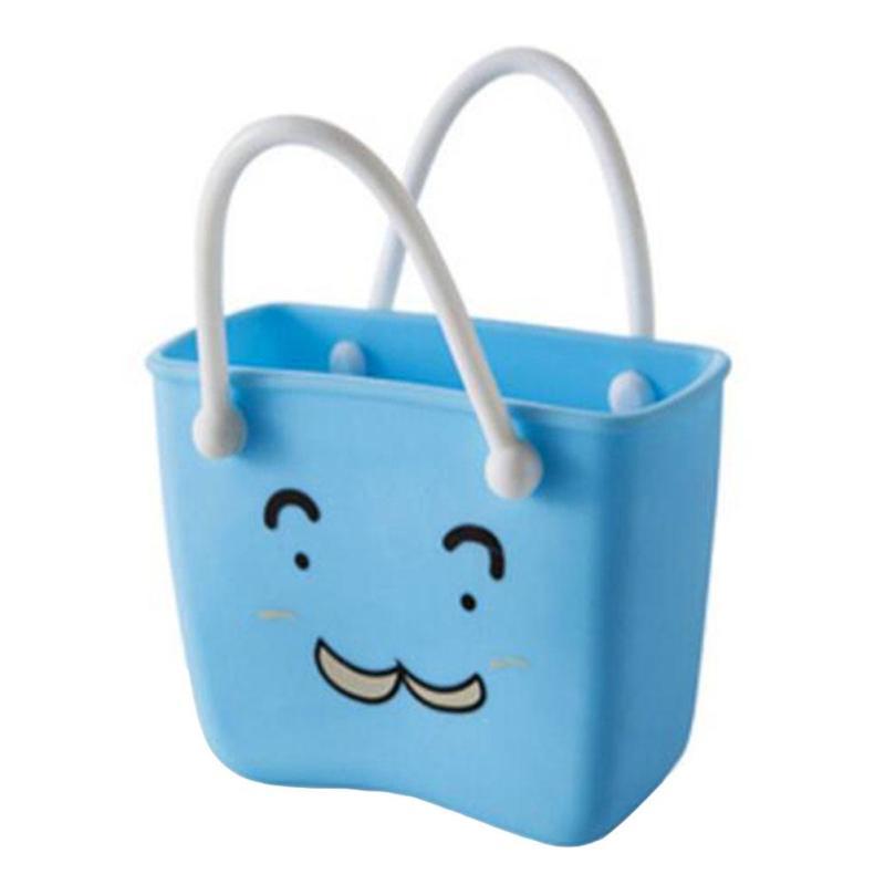 Cartoon Plastic Desk font b Storage b font Basket Kitchen Sponge Hanging Drain Basket font b