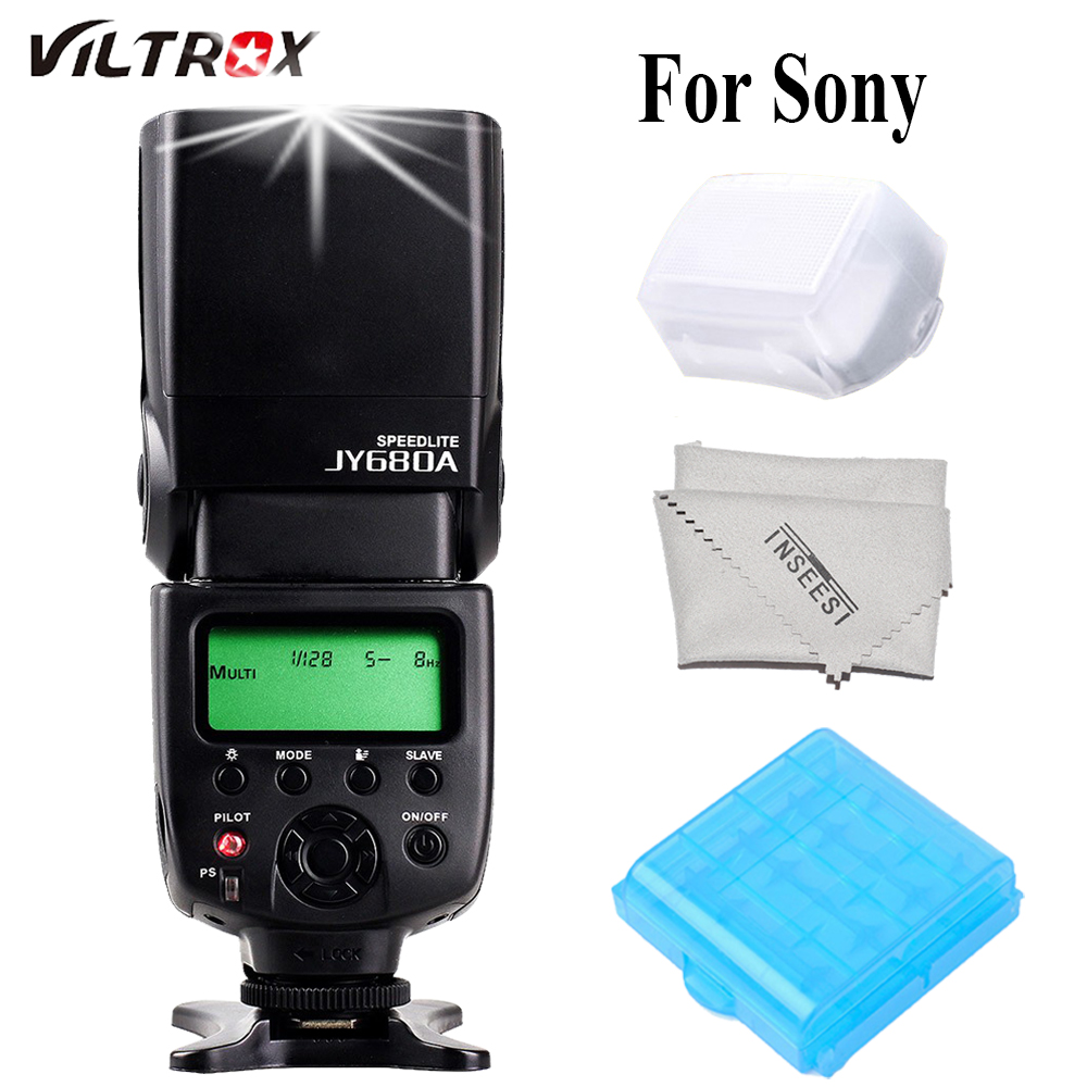 VILTROX JY680A JY-680A Cámara Flash Speedlite para Canon, Nikon, Pentax, Sony A58 A6000 A3000 A7s A7 A6300 A7r A7r II DSLR Cámara
