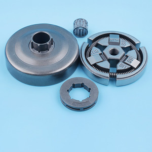 """Image 1 - 3/8"""" Clutch Drum Bell Rim Sprocket Bearing Kit For Husqvarna 51 55 Rancher 50 Special 154 254 Chainsaw Replacement Spare Parts"""