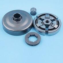 """3/8 """"cilindro de embreagem sino roda dentada rolamento kit para husqvarna 51 55 fazendeiro 50 especial 154 254 motosserra peças reposição"""