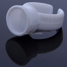 100pcs Plastic White Tattoo Ink Ring For Eyebrow Permanent Makeup Medium Size Tattoo Ink Holders