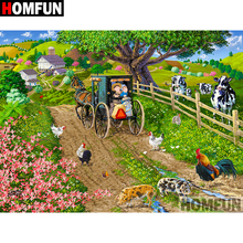 HOMFUN 5D DIY Diamond Painting Full Square/Round Drill Country scenery Embroidery Cross Stitch gift Home Decor Gift A09354 homfun 5d diy diamond painting full square round drill seaside scenery embroidery cross stitch gift home decor gift a08372