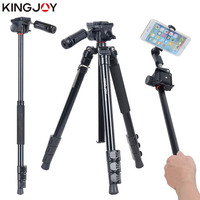 KINGJOY Official BT 158 Light Weight Tripod For Camera With Selfie Stick Holder Tripod For Phone Gorillapod Tripode For Mobile