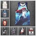 [Elmo] 2015 Summer style Light tank top Chaleco moda emoji/Grumpy cat/deportes de impresión 3d transpirable tanque camiseta de baloncesto