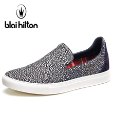 Blaibilton Shallow Skateboard Shoes For Men Genuine Leather Men's Sneakers Summer Light Weight Breathable Sport Shoes Man Brand