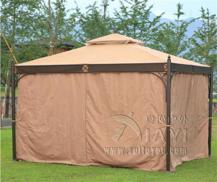 3*3.6 メートル、高品質無錆耐久性のある屋外ガゼボテントパティオシェードパビリオンガーデンキャノピー雨保護家具家