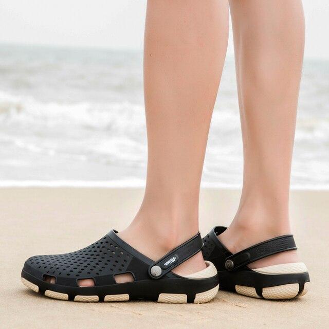 116628e2191ea 2019 Hot Sale Sandals Men Shoes Summer Hollow Out Breathable Flats Sandals  Men EVA Comfortable Men Beach Sandals