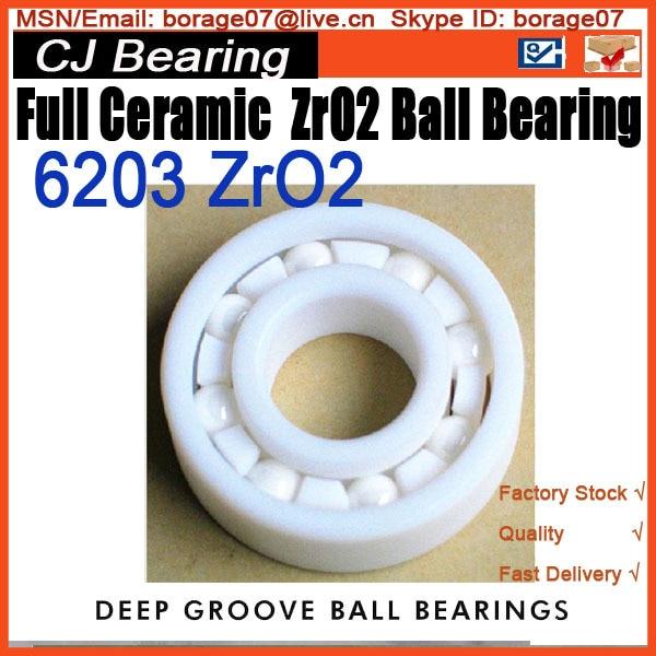 6203 ZrO2 Full Ceramic ball Bearing цена и фото