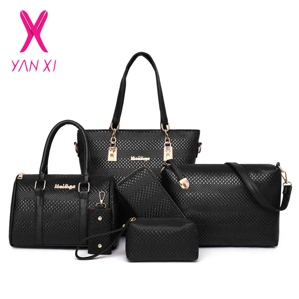 34ed62533f5 Detail Feedback Questions about YANXI Vintage 6 Pieces Bag Set ...