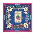 2016 mulheres de seda lenço quadrado 130 * 130 cm pink100 % pure silk marca de moda lenços lenço grande de seda xailes pashminas capes