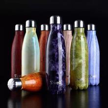 Neue Mode Swell Koks flasche Kreative Isolierung Tasse Mit Hoher Grad Edelstahl Vakuumflasche Stern Kaffee Tasse Wasser flasche