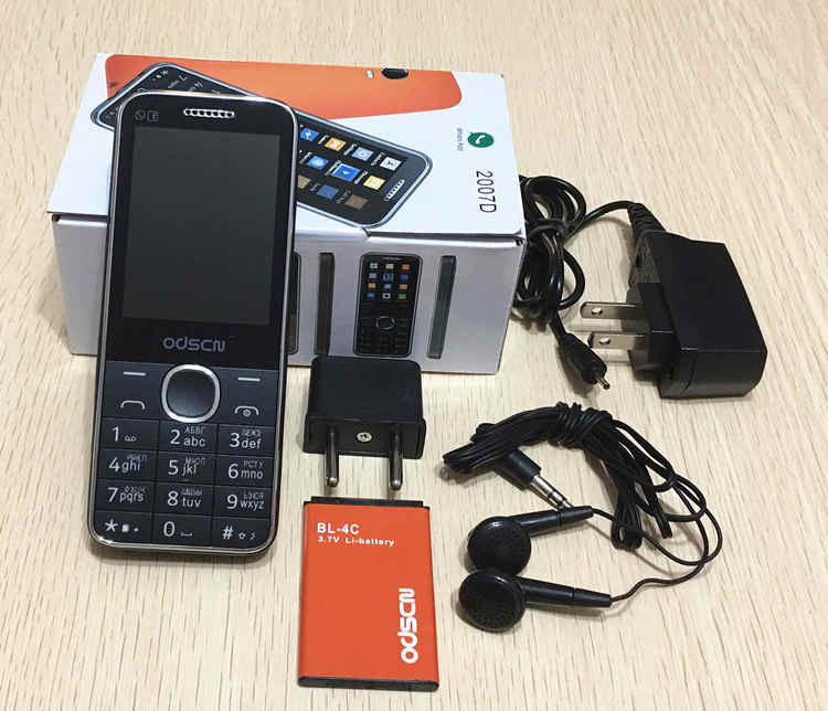 """クリアランスセール 2.4 """"デュアル Sim FM bluetooth ラウドスピーカー携帯電話中国 gsm 携帯電話ロシアキーボードボタン ODSCN 2007D"""