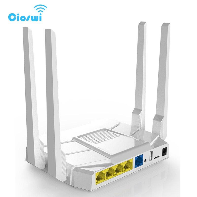 5G Gigabit sans fil 3g 4g lte wi fi routeur 11ac double bande 1200 Mbps openWRT routeur avec 16 MB Flash 512 M RAM FDD/TDD LTE/WCDMA/GSM