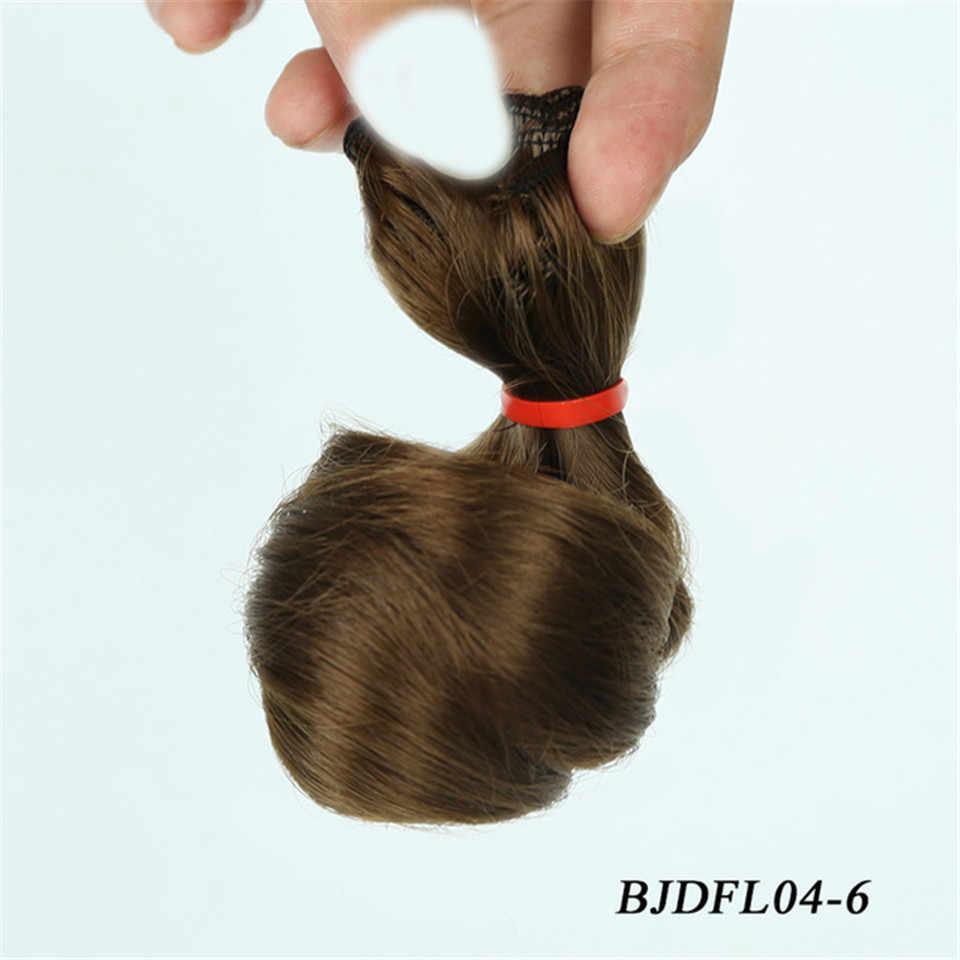 Cateleya DIY קרלי שיער אריגת bjd בובת SD בובה עם 15*100 cm ו 30*100 cm פאה שחור חום כסף צבע