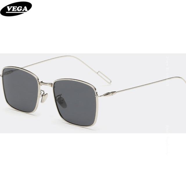 9a3f9261708 VEGA Rectangular Sunglasses Polarized 2017 Novelty Sunglass Unisex High  Quality Hipster Glasses with Box Extra Thin