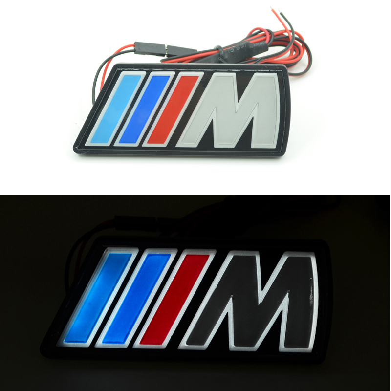 Car-Styling Auto Grille Emblem Logo Light For BMW 1/5/6 Series M3 M5 X1 X3 X5 X6 E34 E36 E39 E46 E30 E60 E90 E92 E39 F30 F10 F20