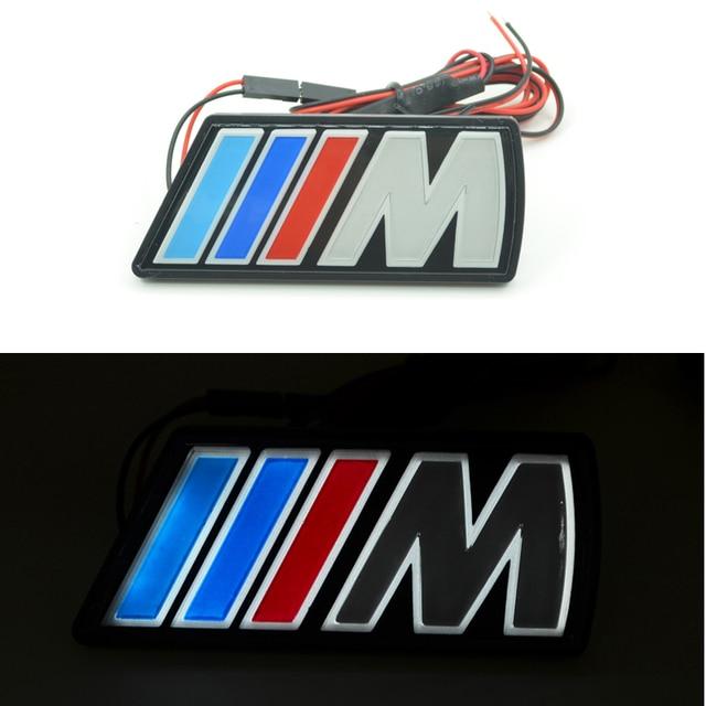 Carro-Styling Auto Grille Emblem Logo Luz Para BMW 1/5/6 Series M3 M5 X1 X3 X5 X6 E36 E39 E46 E30 E34 E39 E60 E90 E92 F10 F20 F30