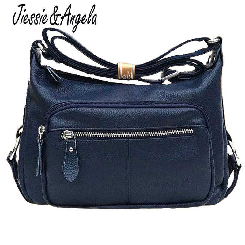 Jiessie Angela Hot New Leather Bags Women Handbag High Quality Women Cross Body Bag Shoulder Messenger