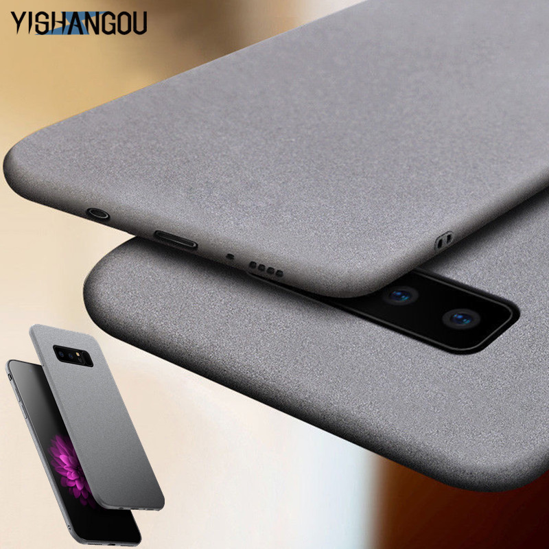 YISHANGOU Luxury Sandstone Matte Soft Phone Case For Samsung Galaxy S10 Lite S9 Plus Note9 A7 A9 2018 A6 A6S A9S J8 J4 J6 Prime(China)