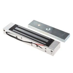 Image 1 - Cerradura electromagnética eléctrica de 12V de una sola puerta 180KG (LB) fuerza de retención para el Control de acceso de plata