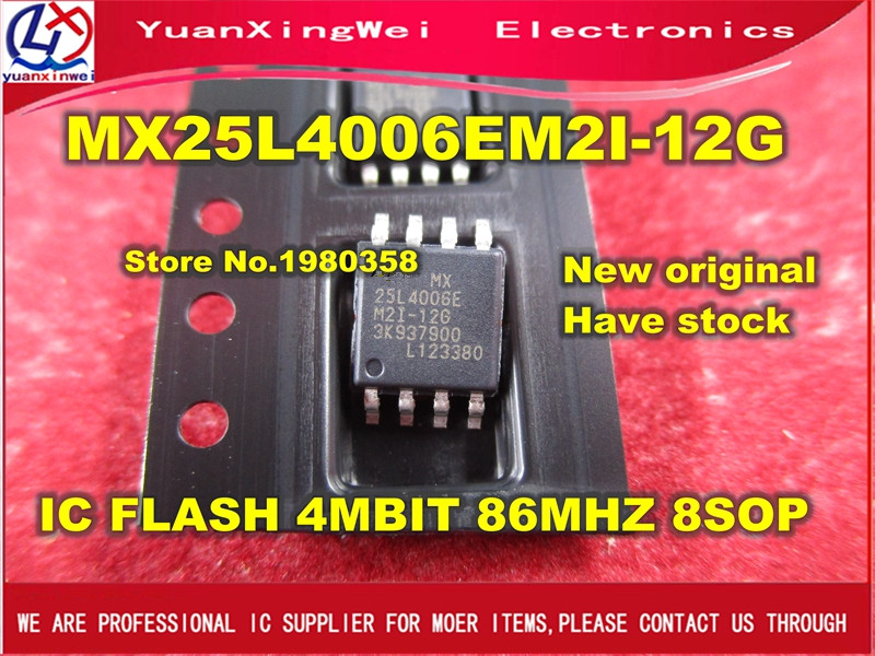 Free Shipping 10pcs/100pcs MX25L4006 Original MX25L4006EM2I-12G IC FLASH SERIAL 3V 4MB 8SOP 25L4006E 25L40 MX25L4006E ic free shipping 100% original goods hmc488ms8g