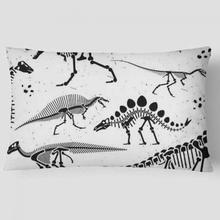 Dinosaur Cushion Cover Black And White Skeleton Skull Pillow Case Bedding Set For Party Decor Children Birthday Boy Gifts