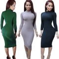 2016 Long Sleeve Slim Party Dress Sexy Club Brown Vestido Women Winter Dresses Kylie Jenner Skin Tight Faux Suede Bodycon Dress
