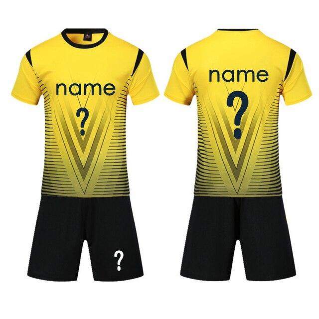 Nuevo adultos y niños Soccer Jersey Set 2018 DIY deportiva fútbol Kit  hombres niño Futbol entrenamiento 2b32847fbb5ce
