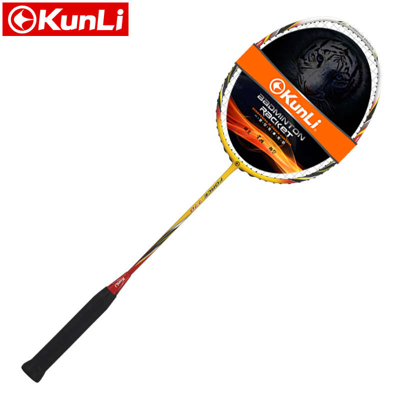 Original KUNLI Badminton Racket FORCE 770/750 Full Carbon 3U Professional TB NANO Technology Official Brand Racket Attack Racket