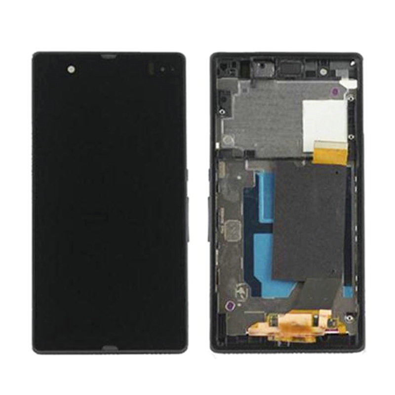 For Sony Xperia Z C6602 C6603 L36 L36h LCD Display Touch Screen Digitizer with Empty Frame