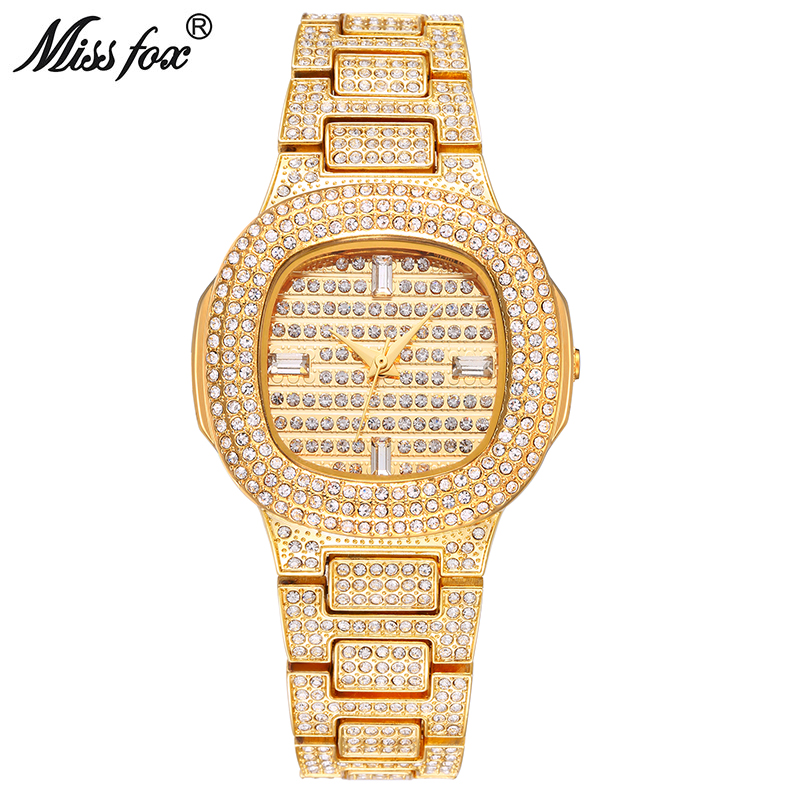 Miss Fox Brand Watch Quartz Ladies Gold Fashion Wrist Watches Diamond Stainless Steel Women Wristwatch Girls Female Clock Hours 2017 new brand watch quartz ladies gold fashion wrist watches diamond stainless steel women wristwatch girls female clock hours