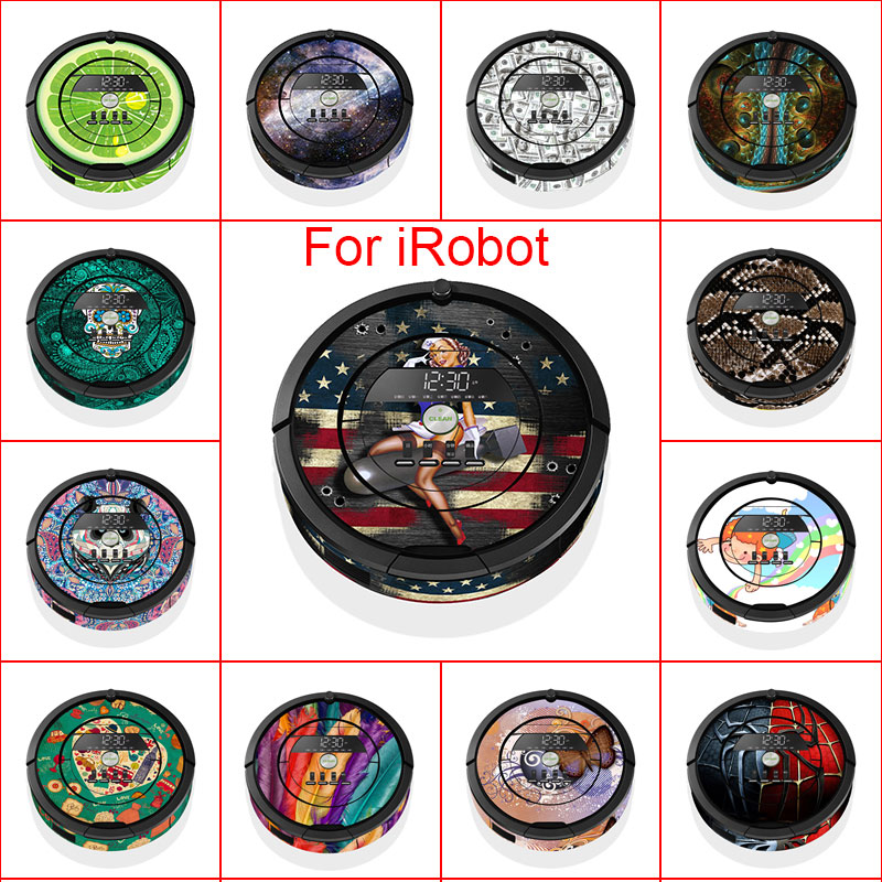 40 Models Skin Decal Vinyl Wrap for iRobot Roomba 860 Cleaner Robotic Sticker Slap Protective Film irobot860 i robot quality guarantee yellow matte vinyl wrap film foil car sticker with air bubble free fedex free shipping size 1 52 30m roll