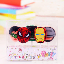 5pc Cake Candles Avengers Party Supplies Kids Birthday Superher Decorations Set Festival Wedding Baby Shower