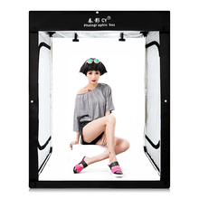 CY 160x120x80cm LED Professional Portable Softbox LED Photo Studio Video Lighting Tent for Children's garment clothing LED BOX
