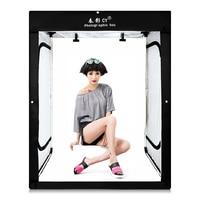CY 160x120x80cm LED Professional Portable Softbox LED Photo Studio Video Lighting Tent for Children's garment clothing LED BOX
