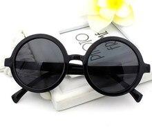 0e512dfc0 NYWOOH Rodada Do Vintage Óculos De Sol Das Mulheres Marca Designer  Revestimento de Espelho Óculos de Sol Masculino Feminino Círc..