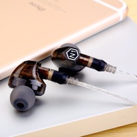 NEW Original VJJB N1 Dynamic Earphone Double Unit Drive DIY HIFI Bass Subwoofer With Mic 2