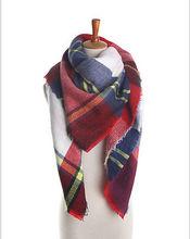 2016 Lady Blanket Pashmina Cashmere Plaid Cozy Checked font b Tartan b font Scarf Wraps shawl
