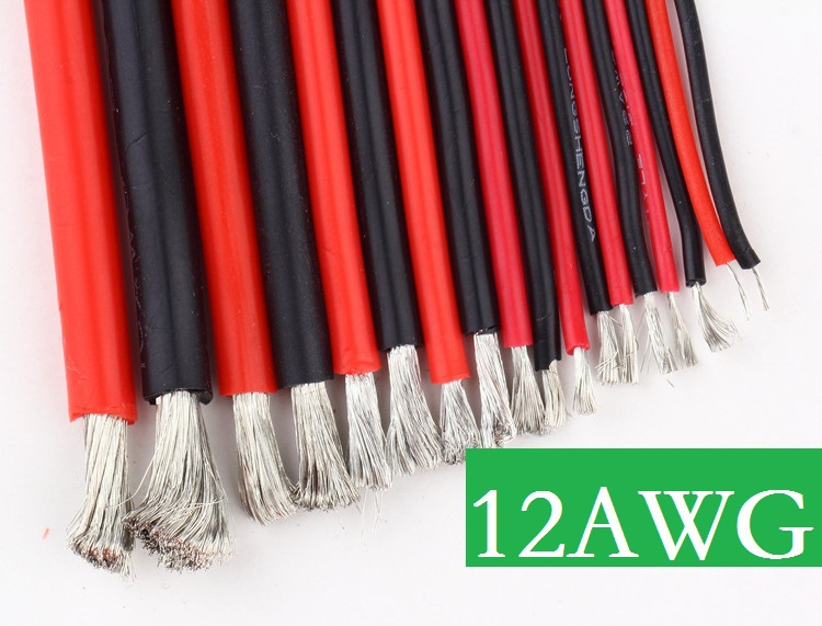 DIY 12 AWG 12AWG #12 Silicone Wire 12 Gauge Silicone Wire Flexible ...