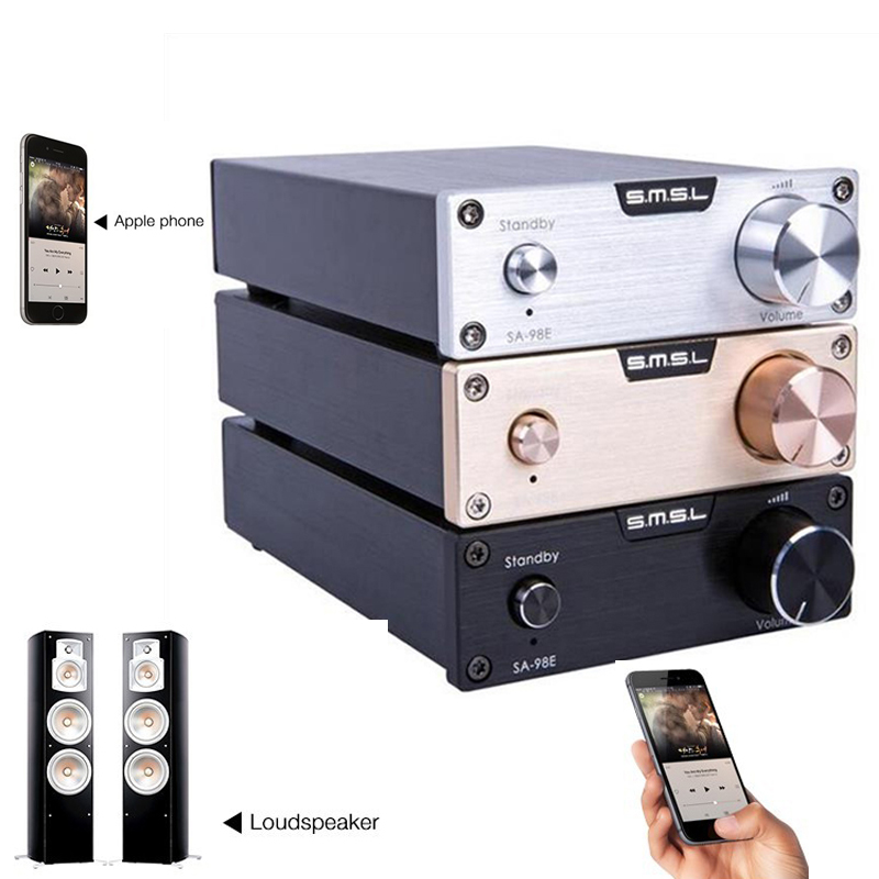 AMPLIFICADOR DE POTENCIA Digital de Audio de alta calidad SMSL SA 98E TDA7498E 160 W * 2 Clase d Original con adaptador de alta potencia negro
