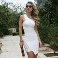 Оптовая Новые Моды для Женщин Знаменитости Пром Dress Одно Плечо Sexy Mini Dress 2017 Рукавов Bodycon Платья Повязки